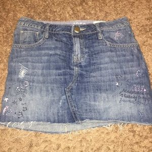 GAP Kids 1969 Skirt Distressed with Embroidery 12